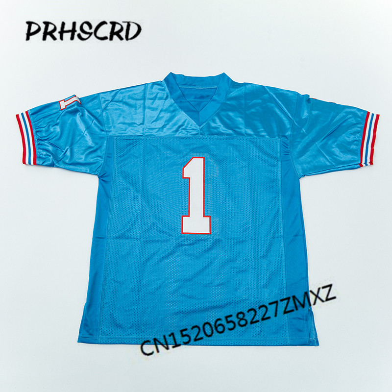 size 40 f73f0 d2c7d Retro star #1 Warren Moon Embroidered Throwback Football ...