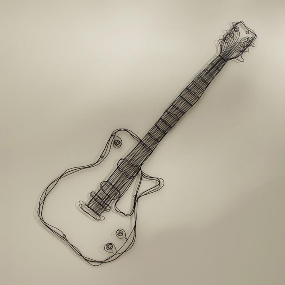 Metalldraht gitarre wanddekorkunst musik wand skulptur draht headset ...