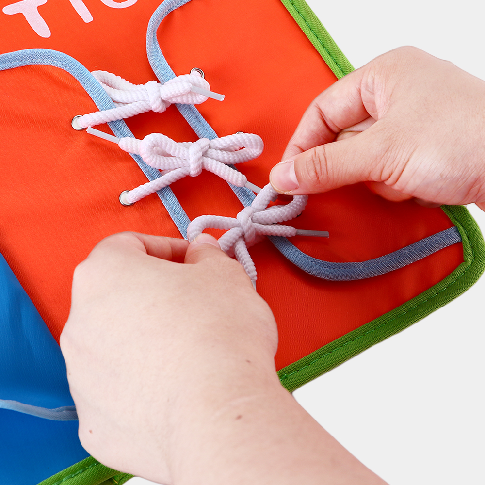 Enjoybay Baby Dress Teaching Book Toy Zipper Snap Buckle Laces Knots Wearing Boards Book Early Educational Teaching Toys for Kid