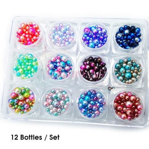 novo 12 caixas set nail art sereia