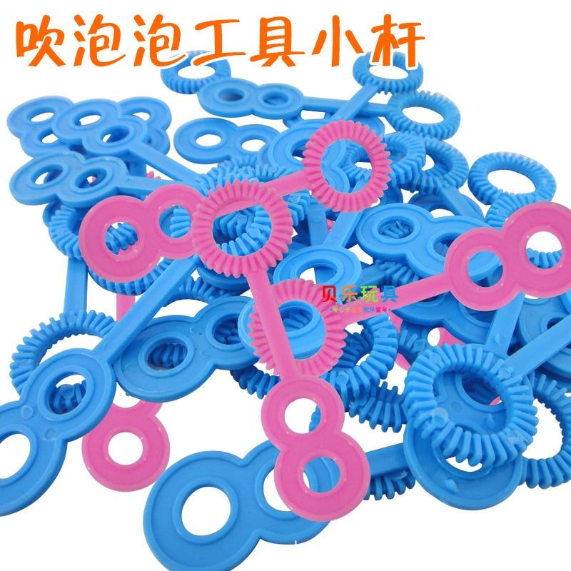 100pcs 7.6 cm PVC Plastic Soap Bubble Concentrate stick toy set for Children Gazillion soap bubbles bar blowing bubble d21