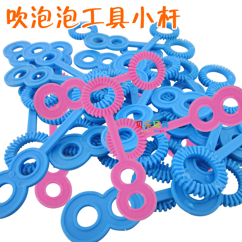 100PCS//Lot Plastic Blowing Bubble Soap Outdoor Tools Kids Toy Bubble Mini Sticks