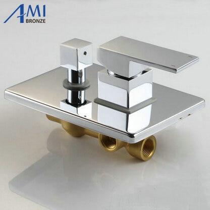ФОТО 2 Function With Diverter 4 Way Shower Panel Valve Bathroom Bath Mixer Tap Chrome Brass