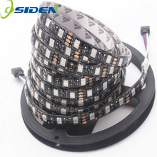 OSIDEN 100 متر الأسود PCB RGB 5050 LED قطاع SMD 5050 DC12V IP22 IP65 لا للماء للماء 60LED/m RGB المصابيح الشريط مرنة