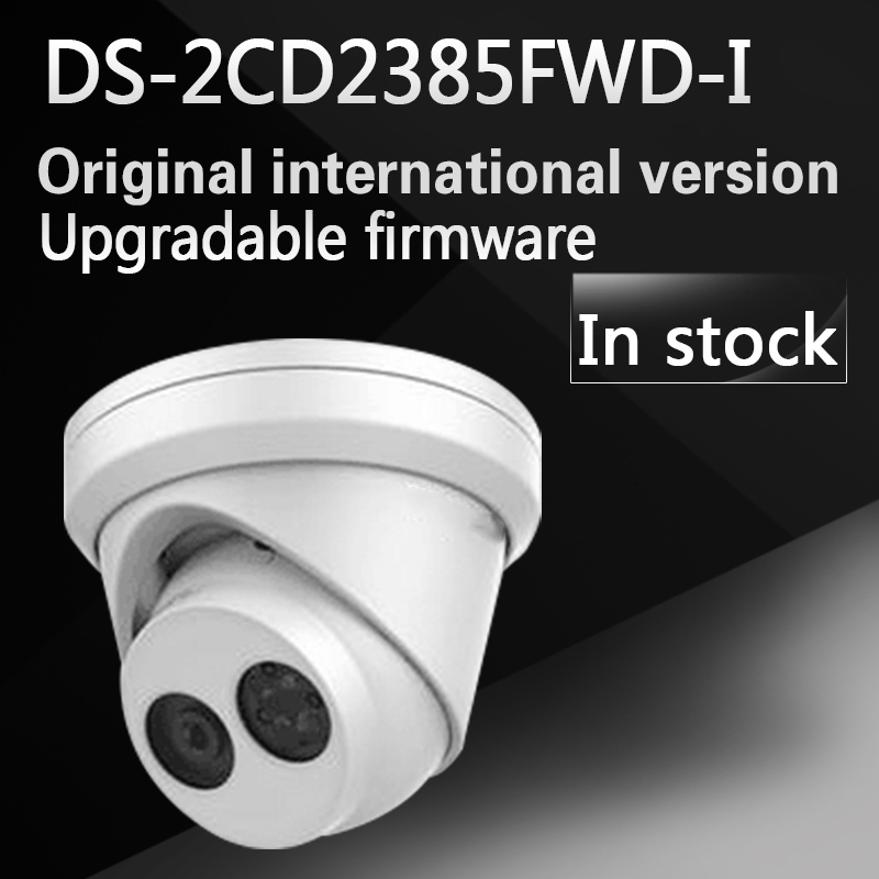 In stock DHL free shipping english version DS-2CD2385FWD-I 8MP Network Turret Camera 120dB Wide Dynamic Range free shipping in stock new arrival english version ds 2cd2142fwd iws 4mp wdr fixed dome with wifi network camera