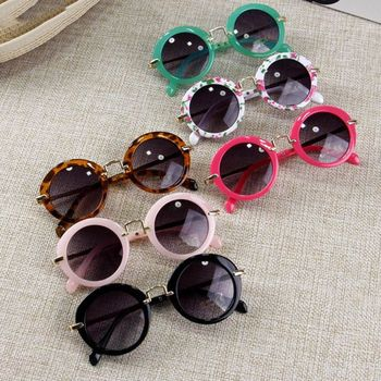Children Goggle Girls ANTI-UV Sunglasses Hot Boys Girls Baby Child Classic Retro Cute Sun Glasses Candy Colors Round Eyewear
