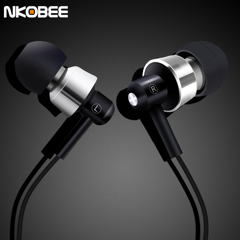 New Metal Earphone With Mic Hands Free Ear Phones Earbuds With Mic In Ear Noise Cancelling Ear buds For iPhone Xiaomi Samsung