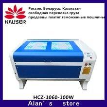 Россия Бесплатная доставка HCZ 100 Вт лазерная гравировка машина 1060 Лазерная резка машина CO2 ЧПУ резка машина USB интерфейс