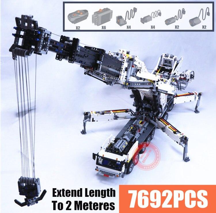 Nouveau MOC RC puissance fonction grue LTM11200 Liebherr fit legoings Technic moteur MOC-20920 kits blocs de construction briques bricolage jouet cadeau