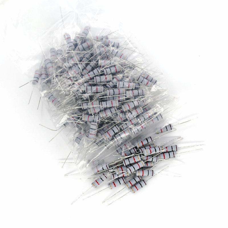 50 шт., карбоновый пленочный резистор 5%, 0,1, 1, 0,5, 10, 47, 4,7, 470, 560, 750 K, 120K, 200K, Сопротивление ом, углеродная пленка 510 R - 820K Ом