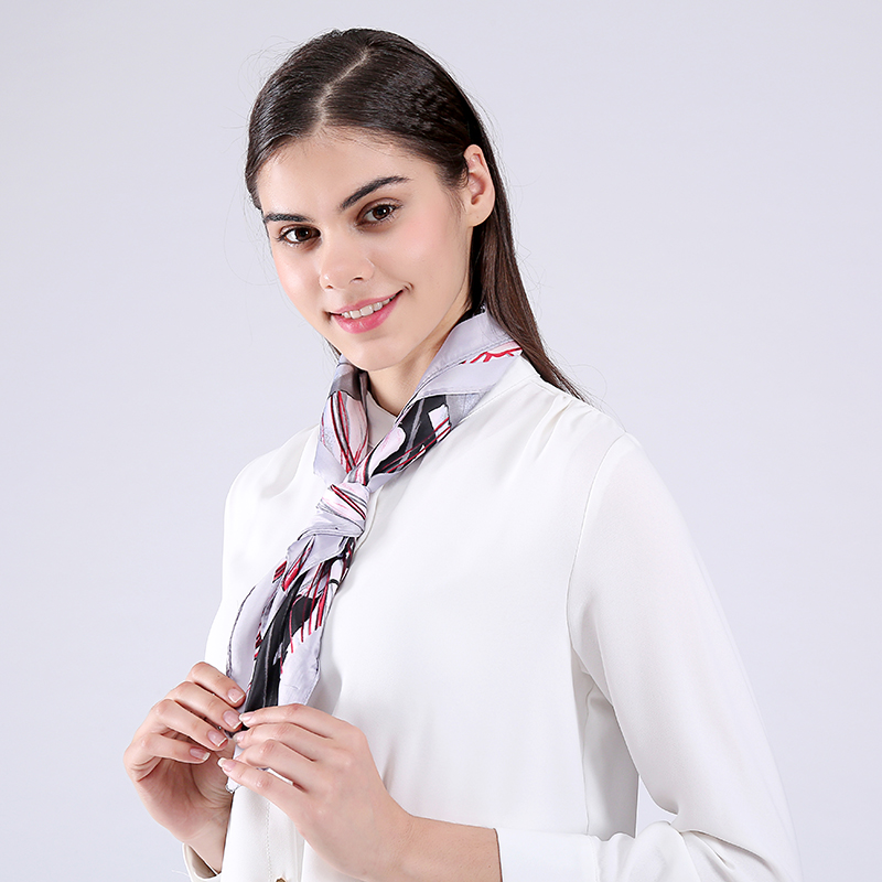 Marte & Joven modni mini kvadratni rajon cvjetni vratni šal za žene - Pribor za odjeću - Foto 4