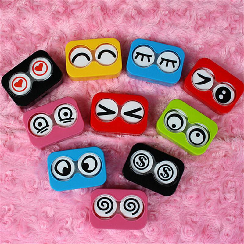 Colorful Mini Storage Contact Lens Box Container Holder Case Tweezers Set Eye Care