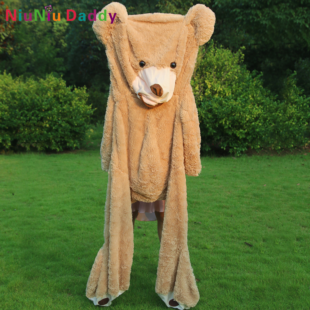 Factory Price 160cm Teddy Bear Coat Empty Toy Skin Plush Giant Bear Toy unstuffed skins