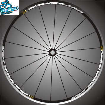 rim one piece HED.3 Tri-spoke Wheel Decal//Sticker Set of 12 White For 45mm
