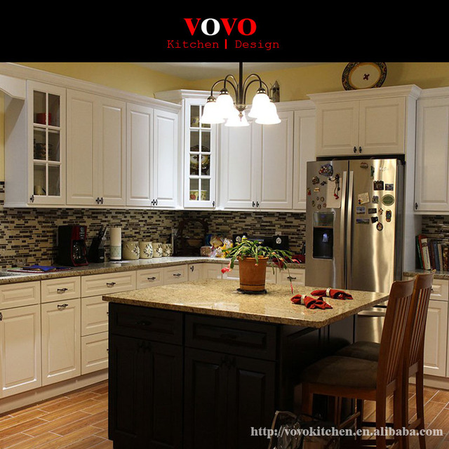 factory wholesale high quality solid wood kitchen cabinets-in