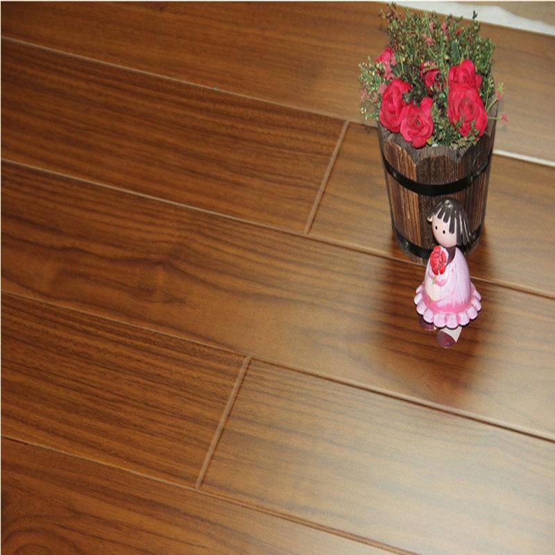 810 135 12mm High Quality Black Walnut Color Wood Floor Panels Home Decoration Wooden Flooring Tiles 50m2