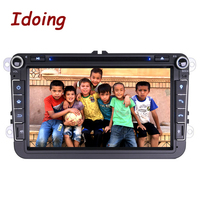 Idoing 2G RAM Android6.0 Car Multimedia Player For VW/Skoda/Seat Touch Screen 1024*600 2Din Steering Wheel Built in 3G Dangle
