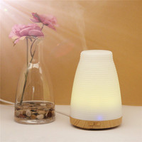 100ml Plastic White Essential Oil Diffuser Ultrasonic LED Light Humidifier Air Aromatherapy Purifier Mist Maker