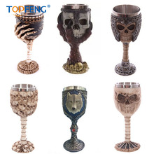 TopFeng Pacific Giftware Lone Wolf Celtic Magic 7oz Wine Chalice Goblet