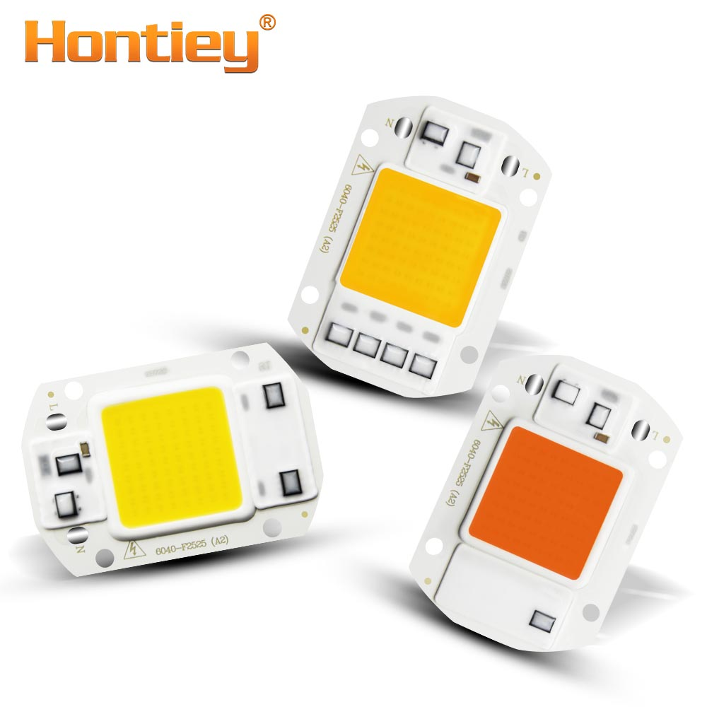 Hontiey LED COB Warm White 220V 110V Smart IC No Need Driver 20W 30W 50W Outdoor Plant Seedling Growth Lighting
