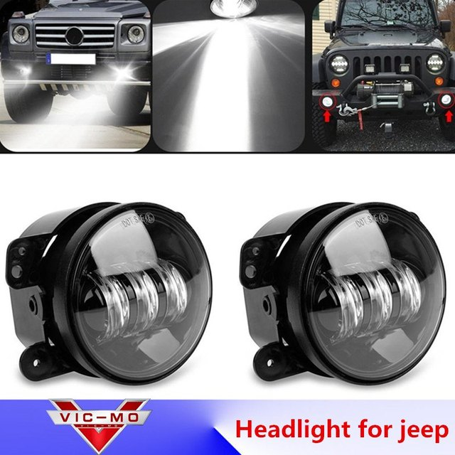2 Round Headlamp Car Accessories Daymaker Sd Projector Headlights 4 Cars Running Lights Led Fog Lamp For Chrysler Pt Cruiser
