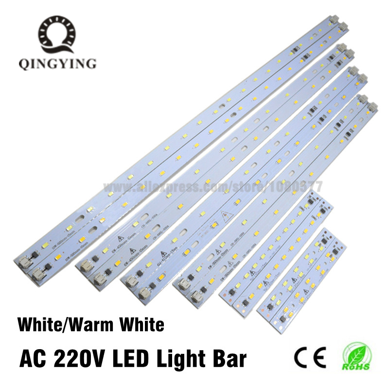 10-50 pces 220 v 230 v conduziu a barra do tubo tira rígida driverless para t5 t8 tubo 5 w 6 w 10 w ac220v smd 5730 fonte de luz branca morna do pwb do diodo emissor de luz