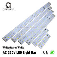 10-50pcs 220V 230V LED Tube Bar Rigid Strip Driverless for T5 T8 Tube 5W 6W 10W AC220V SMD 5730 led pcb Warm White Light Source