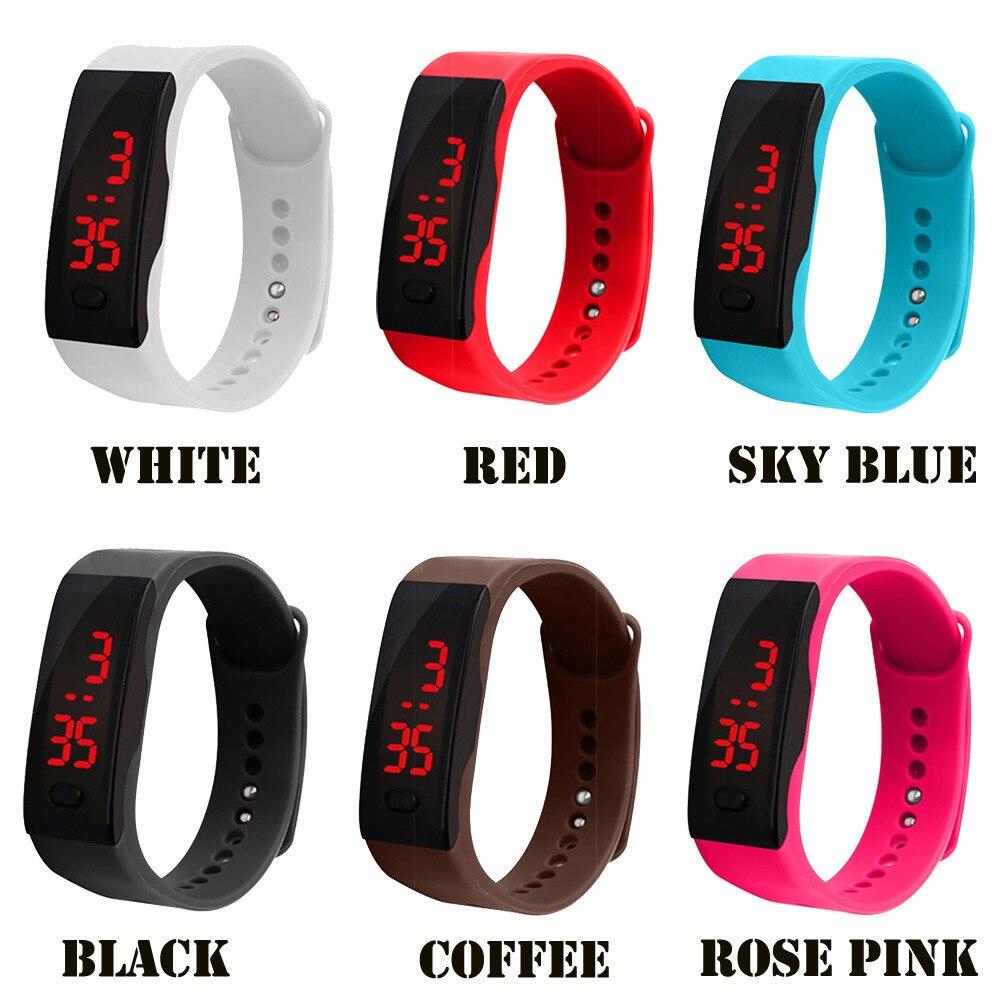 Children Watch LED Digital Display Bracelet Boy Watch Children's Students Silica Gel Sports Watch Reloj Select Gift For Kid A