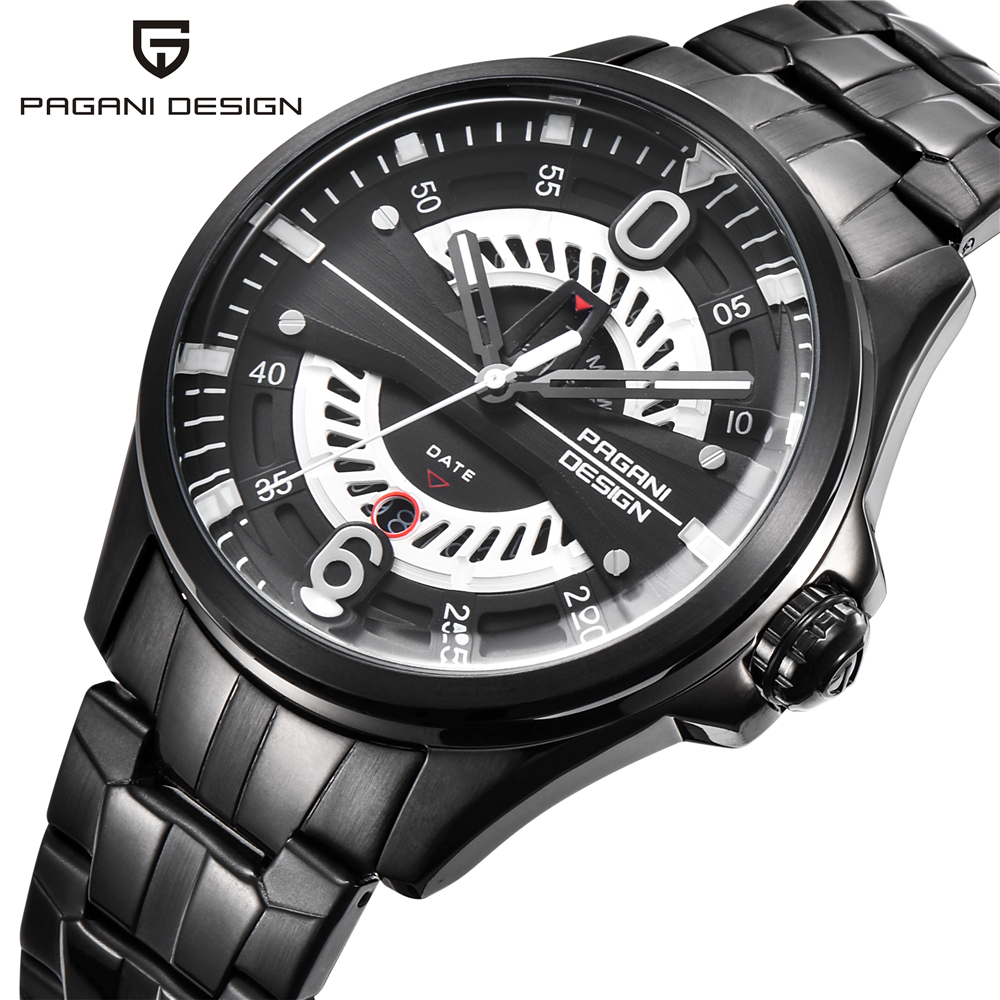 PAGANI DESIGN Men Steel Watches Brand Luxury Sports Quartz Watch Mens Military Army Waterproof Wrist watch