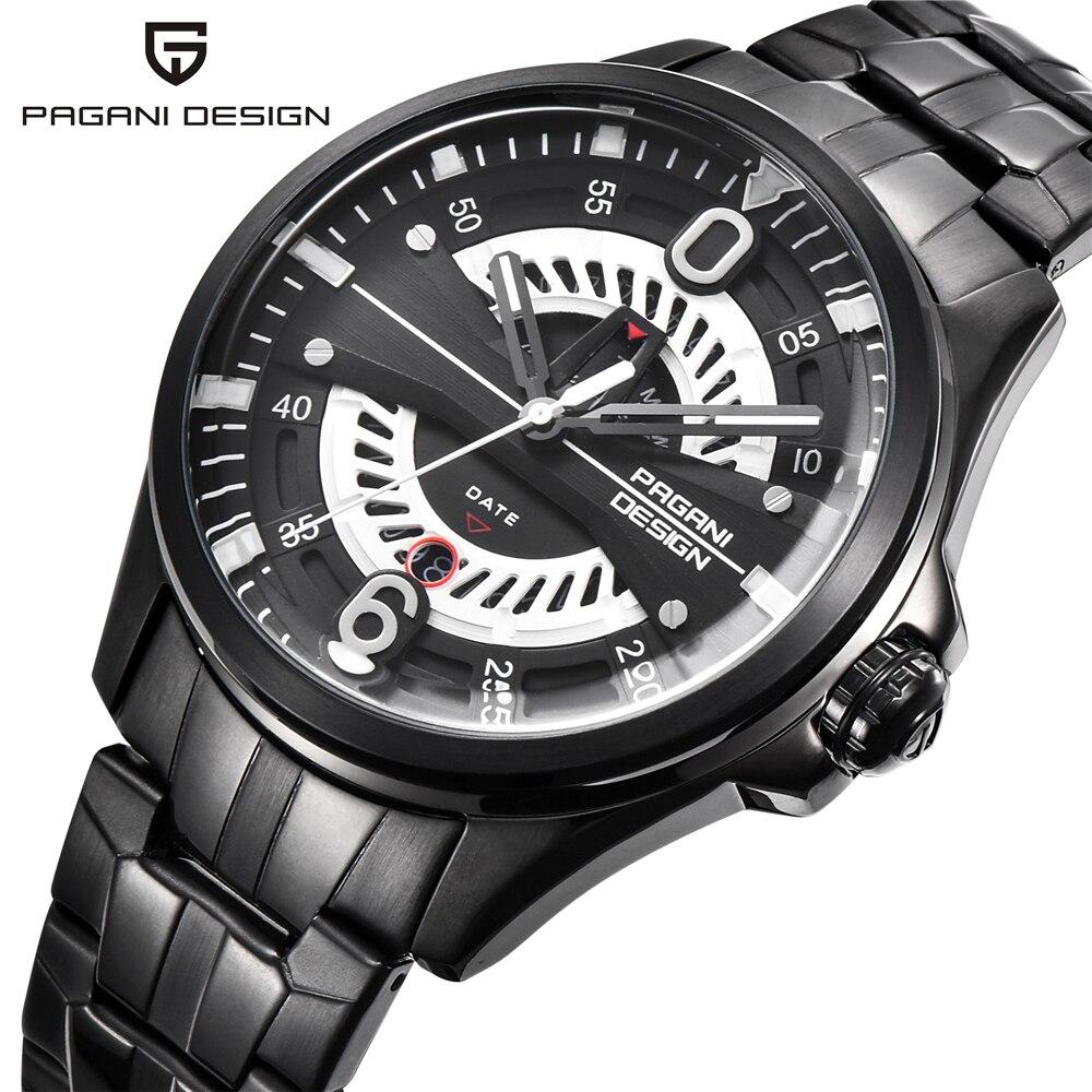 PAGANI ONTWERP Mannen Steel Horloges Merk Luxe Sport Quartz Horloge Heren Militaire Leger Waterdichte polshorloge Relogio Masculino-in Quartz Horloges van Horloges op  Groep 1