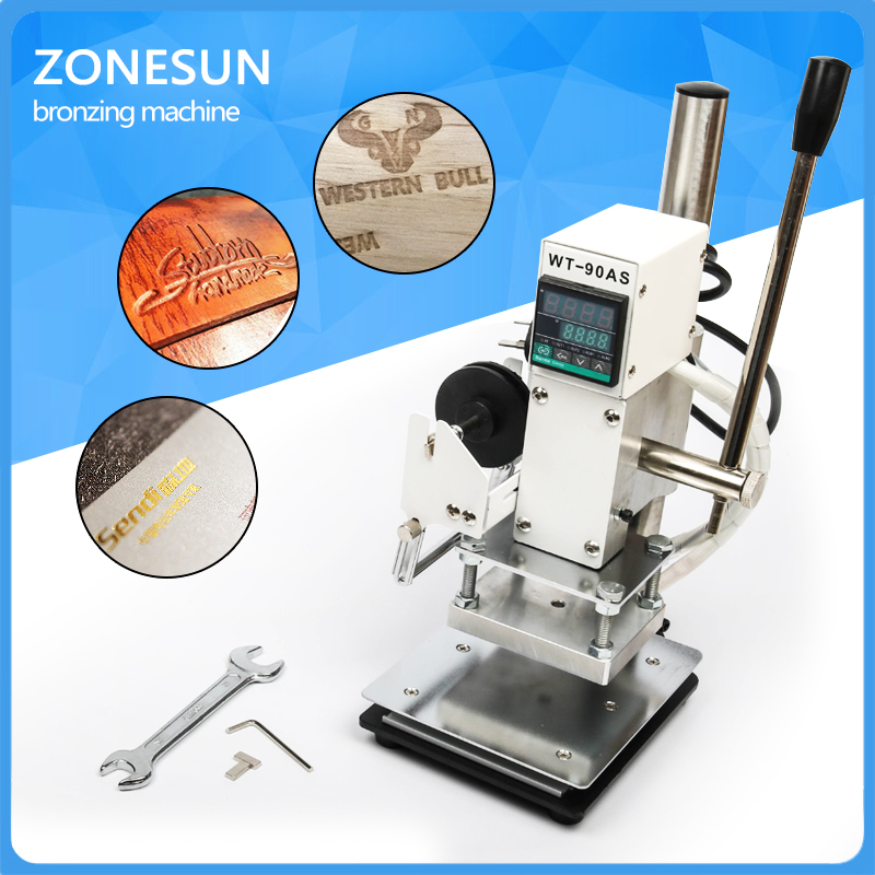 ZONESUN  Best Quality!  Manual Hot Foil Stamping Machine,leather printer,Creasing machine,marking press,embossing machine