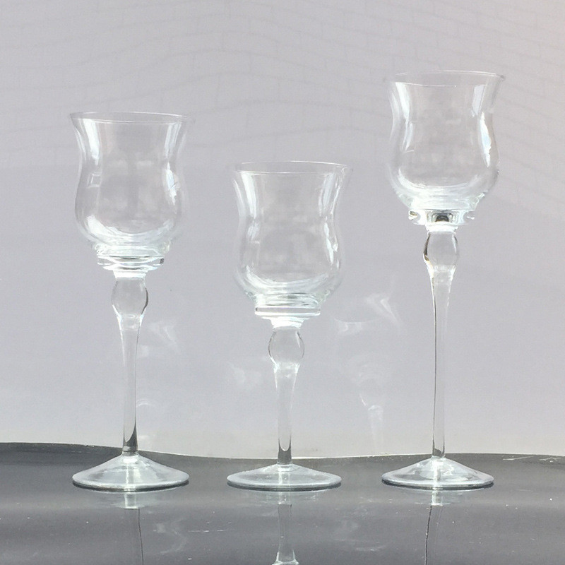 Holder Christmas Decoration Goblet Party Wedding Lot Candlestick 3pcs Valentines Home Glass Table Candle Mariage