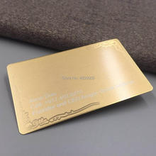 0.5mm thickness Matte gold metal business cards