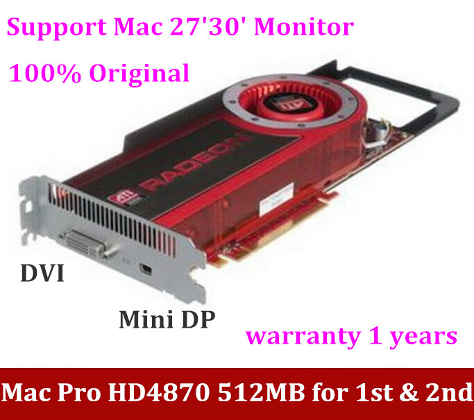 NEW for MAC PRO HD4870 512M PCI-e Graphic card WITH MINI DP PORT SUPPORT Mac 27` 30MONITOR MacPro 1Gen & 2Gen VIideo card