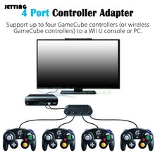 new 4 Ports For GameCube GC Controllers USB Adapter Converter for Nintendo Wii U PC NGC for PC Game Accessory(China)