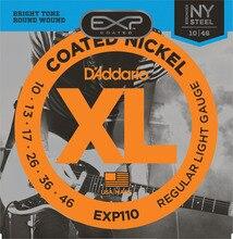 D'Addario Coated Electric Guitar Strings, Light/Super Light EXP110 EXP120 Daddario