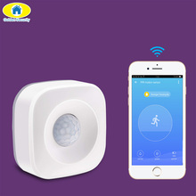 цена на APP Control WiFi PIR Motion Detector Alarm Sensor for Home Security Wireless Mini PIR Movement Sensor