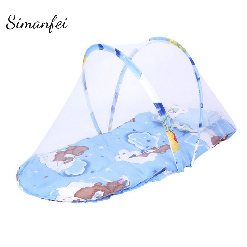 Simanfei Baby Bed Nets 2017 Folding Mosquito Nets Infants Children Sleeping Pad Pillow Bedspread Soft Portable Mosquito Net