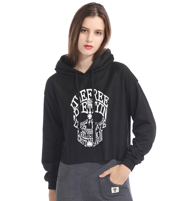 Hoodies & Sweatshirts Trustful Skull Cat Hoodies Sweatshirts Women Autumn Long Sleeve Long Hoody Tops Streetwear Pullover Hoody Tops Female Hoodie The Dress