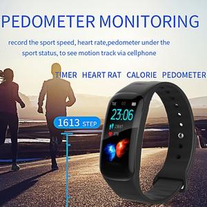 Image 5 - חכם צמיד ליגע אישה כושר צמיד לחץ דם קצב לב צג מד צעדים חכם שעון גברים להסתגל אנדרואיד ו ios