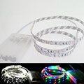 Boa Qualidade LED DC5V 60leds Luz de Tira 60 3528 1 m/2 m/3 m/4 m/5 m Com Caixa de Bateria Multi Color TV Decoração de Festa Em Casa
