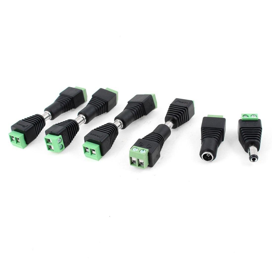 IMC Горячая 10 шт. камеры видеонаблюдения 2,1 мм x 5,5 мм Женский Мужской DC мощность Plug адаптер