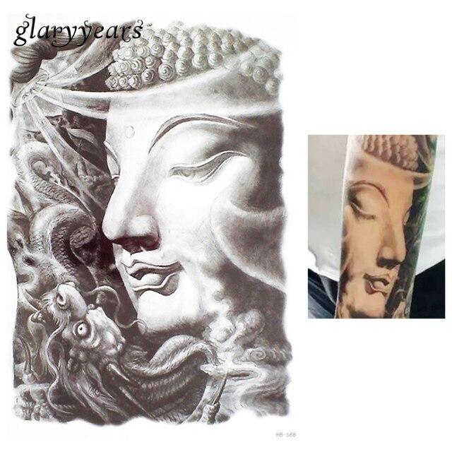 1 Piece Sketch Buddha God Design Tattoo Sticker For Women Sleeve Body Art Temporary Tattoo Sticker DIY Product Sweatproof HB688
