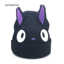 AOVKOVSA 2017 New fashion Cartoon Ear Big Eyes Warm Winter Hats women Skullies Beanies children gril Knitted Hat