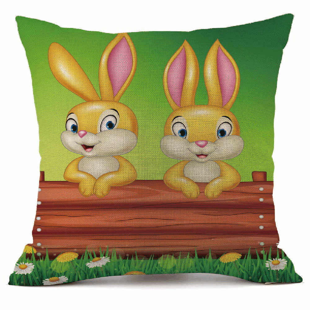 Vui Mừng Lễ Phục Sinh Ngày In Hình Màu Sắc Rực Rỡ Trứng Sống Sáng Tạo Sofa Giường Nhà Trang Trí Lễ Hội Gối Đệm 2020 Coussin Decoratif