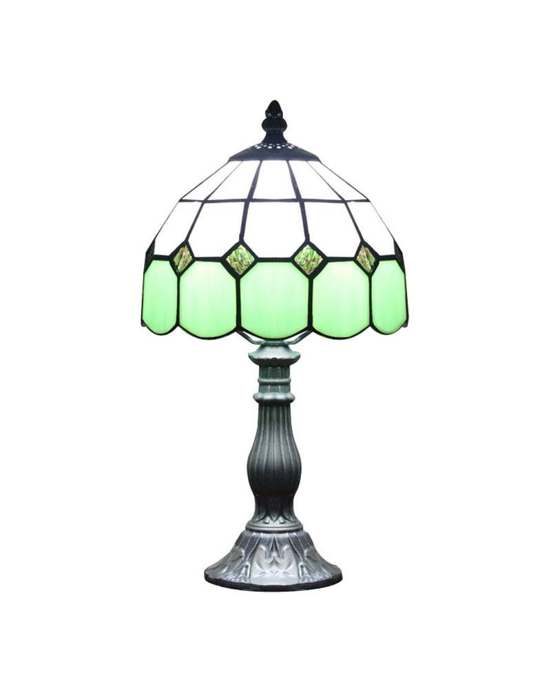 Dhl livraison gratuite lampes de table tiffany moderne vert verre à côté de bureau luminaire style
