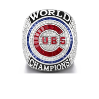 Drop Shipping 2016 Official Version Chicago Cubs Baseball Solid Championship Ring Size 6 15