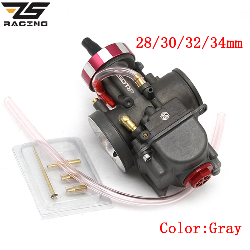 ZS Racing 4T Engine Universal Carburetor PWK 28 30 32 34mm For Keihin Modify Off Road Motorcycle Scooter UTV ATV With Power Jets