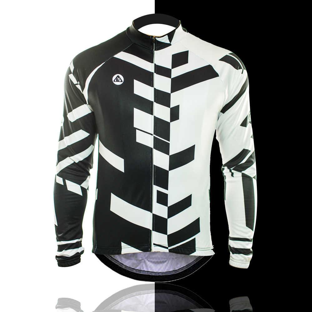 Racmmer 2019 Jersey di Riciclaggio Lungo Inverno Della Bici Della Bicicletta In Pile Termico Ropa Roupa De Ciclismo Invierno Hombre Mtb Abbigliamento # ZR-04