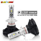 h7 led headlight bulbs H4 H1 H3 H11 9005 9006 Led Headlamp Conversion Kit 50W 6000LM White 6500K Car Light Fog Lamp Bulb